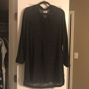 Old Navy black dress with white polka dots